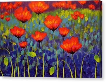 Poppy Meadow   Cropped 2 Canvas Print by John  Nolan