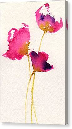 Poppy Pirouette Canvas Print by Anne Duke