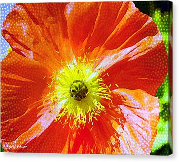Poppy Series - Facing The Sun Canvas Print by Moon Stumpp