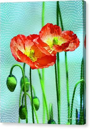 Poppy Series - Quite Canvas Print by Moon Stumpp