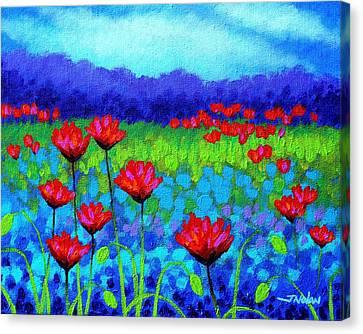 Nature Poster Art Canvas Print - Poppy Study by John  Nolan