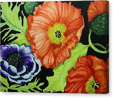 Poppy Surprise Canvas Print by Diana Dearen