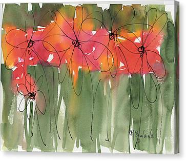 Poppy To Posy Canvas Print by Kathleen McElwaine