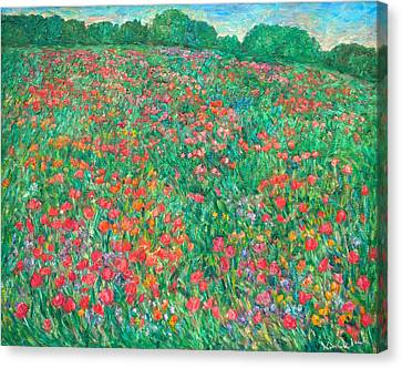 Poppy View Canvas Print by Kendall Kessler