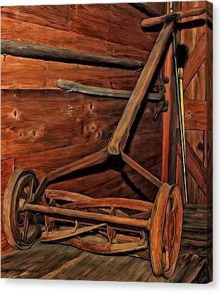 Pop's Old Mower Canvas Print by Michael Pickett