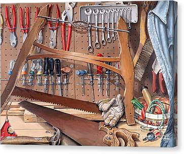 Pop's Work Bench Canvas Print by Bob  George