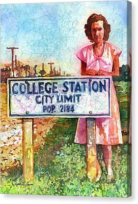 Population 2184 Canvas Print by Hailey E Herrera