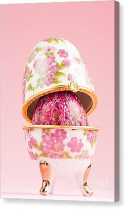 Porcelain Egg Decoration Canvas Print