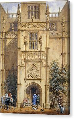 Porch At Montacute, 1842 Canvas Print by John Nash
