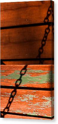 Canvas Print featuring the photograph Porch Chain Reflections by Haren Images- Kriss Haren