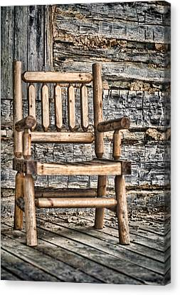 Porch Chair Canvas Print by Heather Applegate