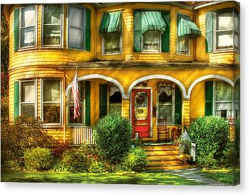 Porch - Cranford Nj - A Yellow Classic  Canvas Print