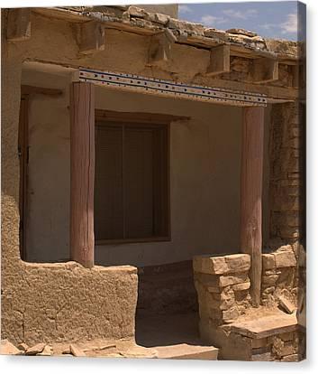 Porch Of Pueblo Home Canvas Print
