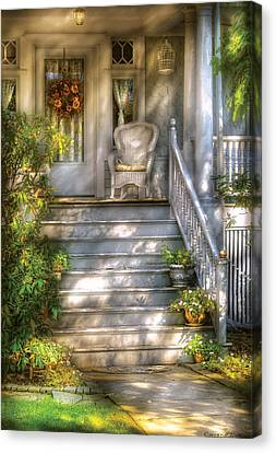 Personalized Canvas Print - Porch - Westfield Nj - Grannies Porch  by Mike Savad