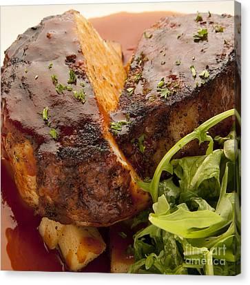 Pork Chop Canvas Print by New  Orleans Food