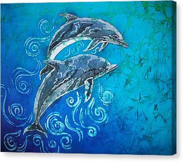 Porpoise Pair Canvas Print by Sue Duda