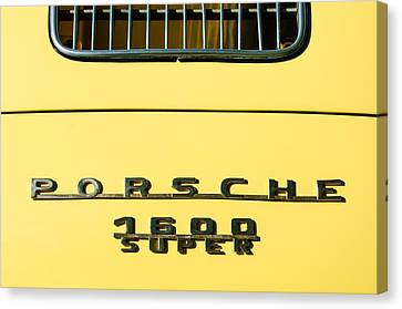 Porsche 1600 Super Rear Emblem Canvas Print by Jill Reger