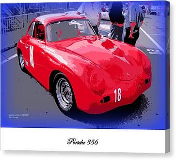 Porsche 356 Canvas Print by Don Struke