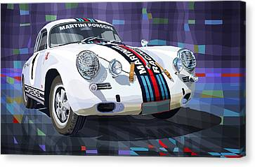 Porsche 356 Martini Racing Canvas Print