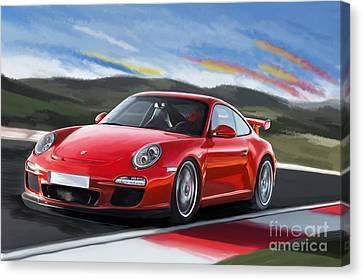 Porsche 911 Gt3 Canvas Print