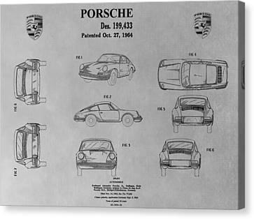 Porsche 911 Patent Canvas Print by Dan Sproul
