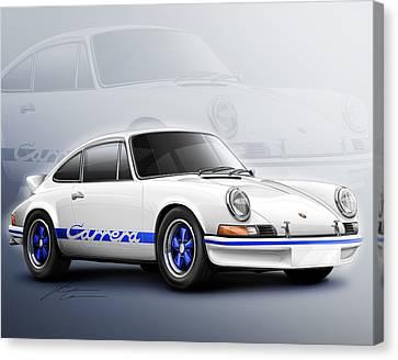 Porsche 911 Rs 1973 Canvas Print by Etienne Carignan