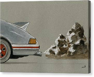 Porsche 911 Rs Classic 2 7 White Canvas Print by Juan  Bosco