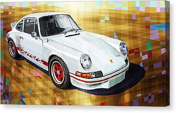 Porsche 911 Rs Canvas Print by Yuriy Shevchuk