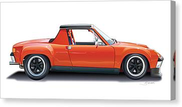 Porsche 914-6 Gt Canvas Print by Alain Jamar
