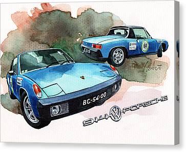 Porsche 914 Canvas Print by Yoshiharu Miyakawa