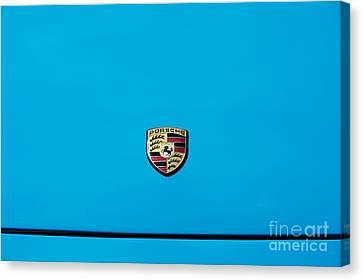 Front End Canvas Print - Porsche Blue by Tim Gainey
