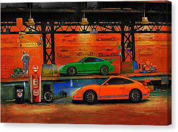 Porsche Depot Canvas Print by Alan Greene