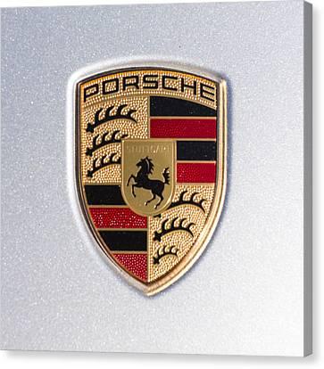Porsche Emblem 911 Canvas Print by Robert Loe