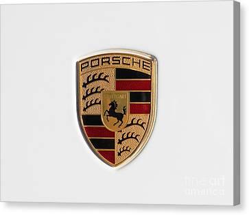 Porsche Emblem Dsc2483 Canvas Print by Wingsdomain Art and Photography