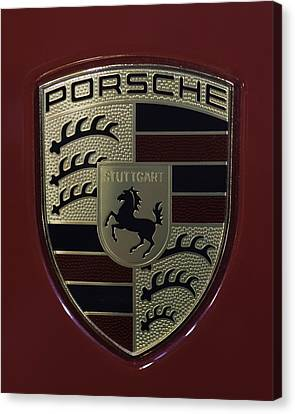 Porsche Emblem Canvas Print by Sebastian Musial