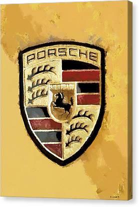 Porsche Heritage Canvas Print by Kai Saarto