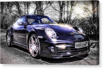 Porsche Canvas Print by Ian Hufton