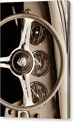 Porsche Sepia Iphone 3 Canvas Print by Jill Reger