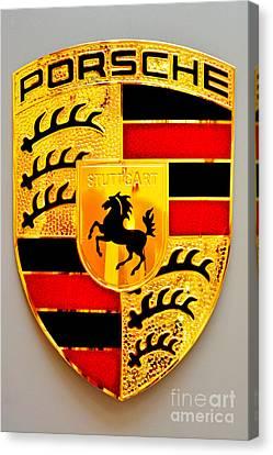 Porsche Stuttgart Canvas Print by Andres LaBrada