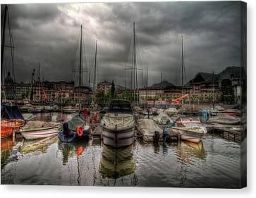 Port At Como Lake Canvas Print