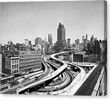 Port Authority Bus Terminal Canvas Print by Underwood Archives