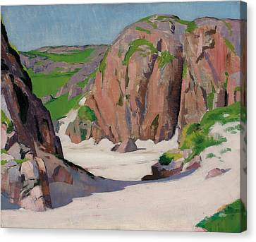 Port Bhan  Iona Canvas Print by Francis Campbell Boileau Cadell