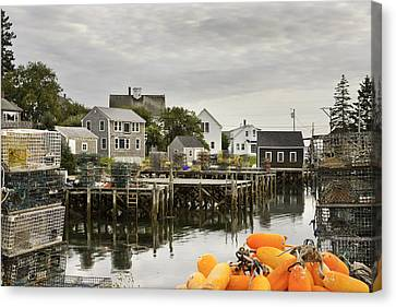 Port Clyde On The Coast Of Maine Canvas Print by Keith Webber Jr