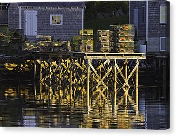 Port Clyde Pier On The Coast Of Maine Canvas Print by Keith Webber Jr