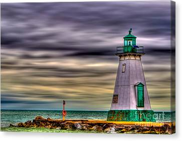 Canvas Print featuring the photograph Port Dalhousie Lighthouse by Jerry Fornarotto
