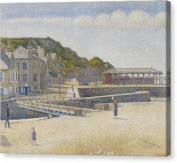 Port En Bessin Canvas Print by Georges Pierre Seurat