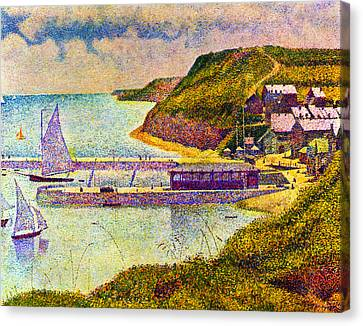 Seurat Canvas Print - Port En Bessin by Georges Seurat