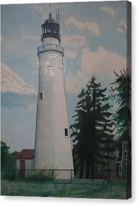 Port Gratiot Lighthouse Canvas Print by Matthew Handy