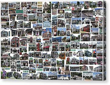 Port Jefferson Photo Collage Canvas Print by Steven Spak