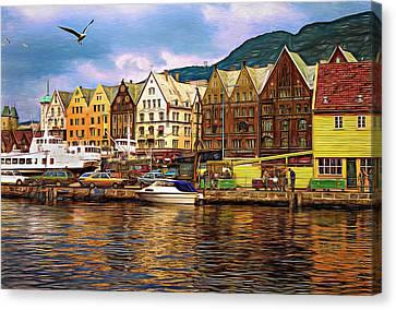 Port Life - Paint Canvas Print by Steve Harrington